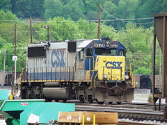 CSX EMD SD 50 locomotive # 8537, located in the railroad yard at Erwin, Tennessee, May 2009