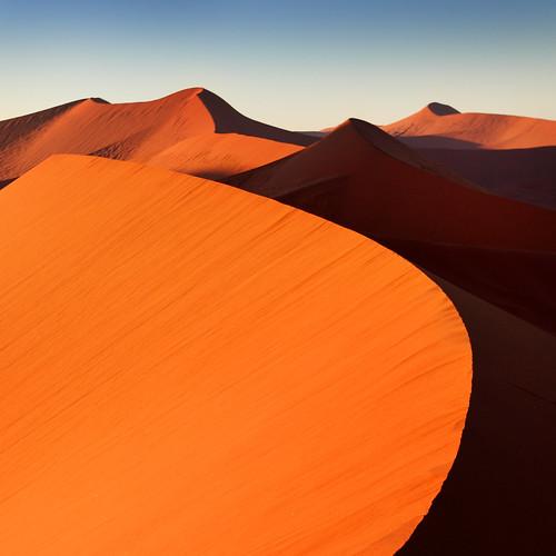 africa blue orange colors landscapes sand desert dunes dune afrika namibia sossusvlei namib southernafrica dune45 namibdesert namibnaukluftnationalpark flickraward