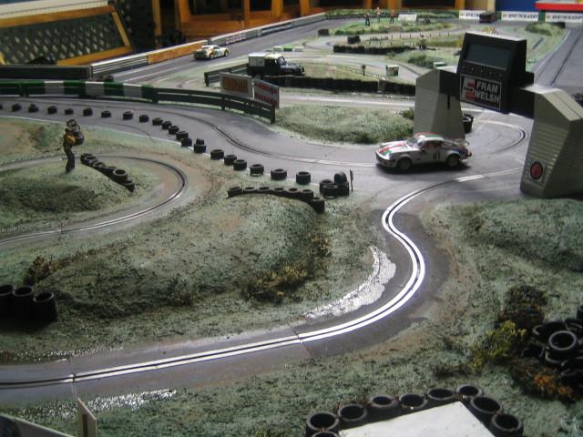 Slot car rally tracks plain colored poker chips