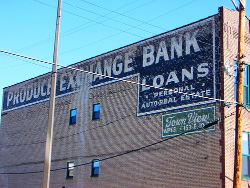 St Paul, MN Produce Exchange Bank painted sign