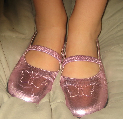 Nov 12 - girl version, Shimmery Pink Butterfly shoes