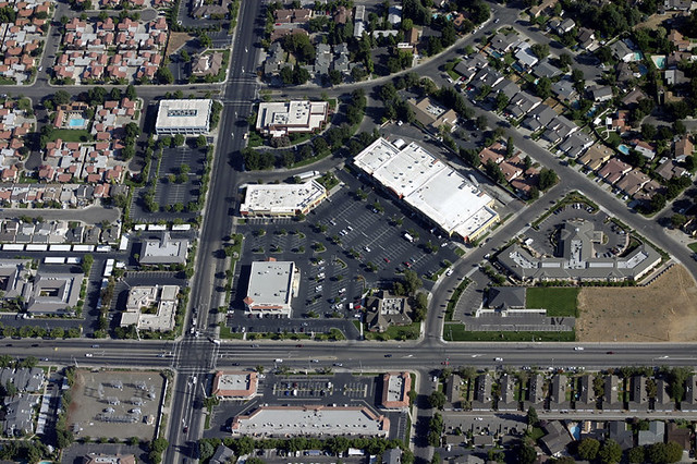 An Aerial View Of The Intersection Of Coffee Road And