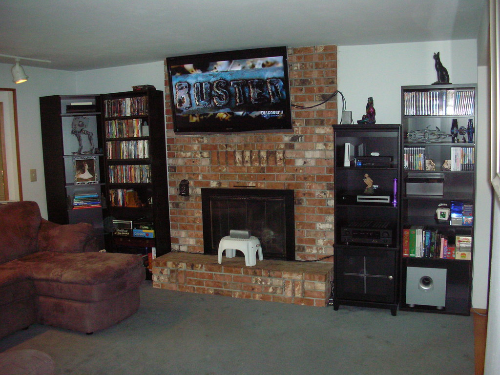 flat panel over fireplace discomforting page 2 avs forum home theater discussions and. Black Bedroom Furniture Sets. Home Design Ideas