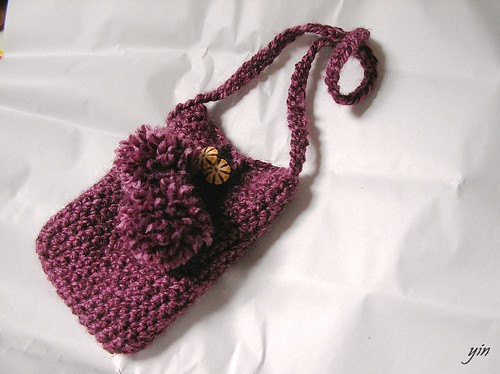 knit。mobile bag。