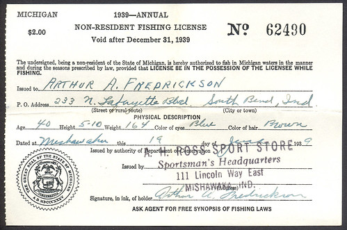 Flickriver photoset 39 michigan outdoor collectibles for Kentucky out of state fishing license