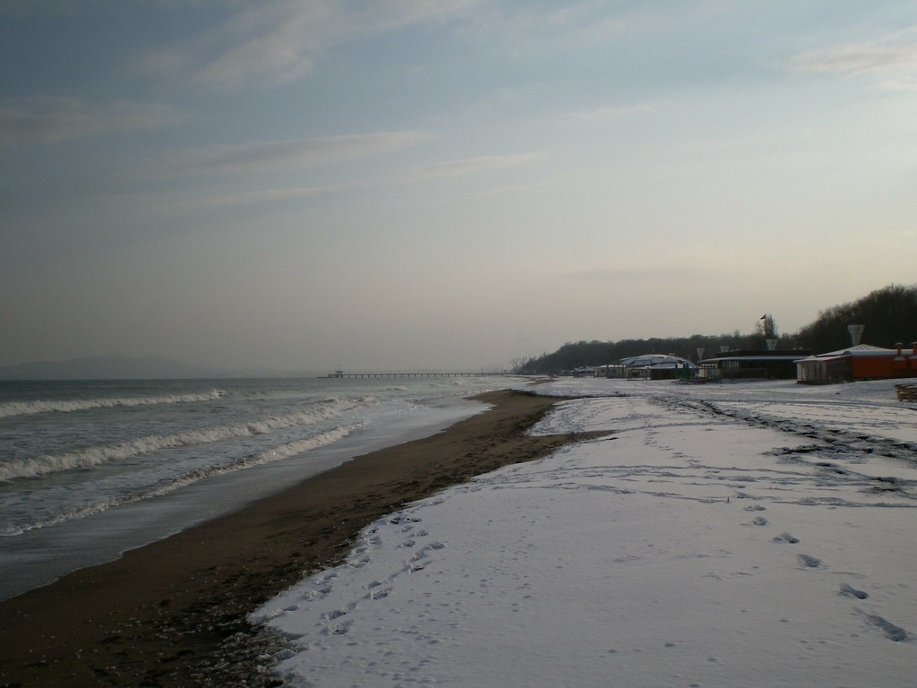 Bourgas beach in the winter