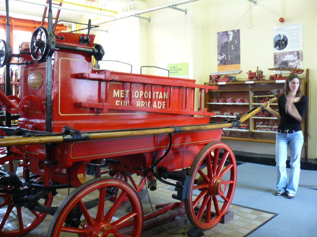 Mid-19th Century Horse-Drawn Fire Engine