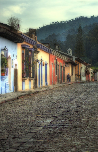 Morning Street Scene, Antigua