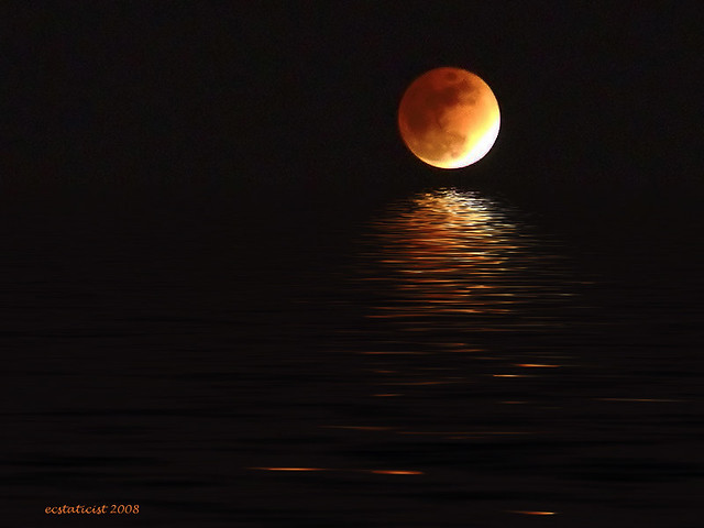 Photo:eclipsed moon flood By:ecstaticist