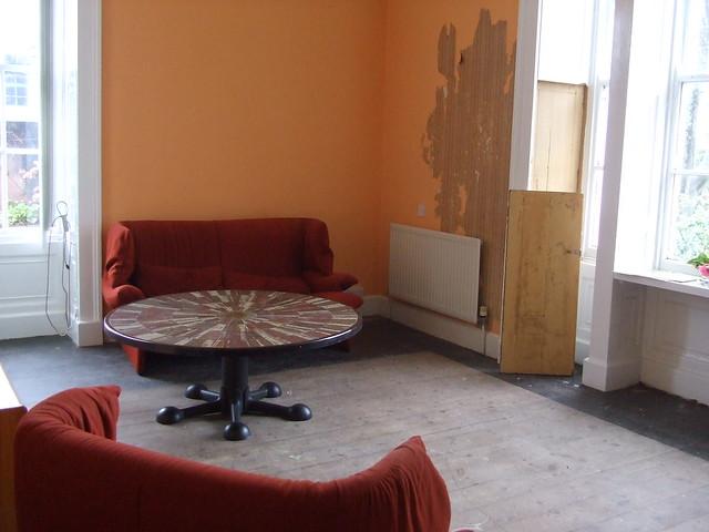 Magistretti sofa & 1970s tiled table, Admiralty House