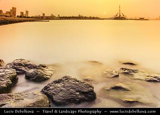 Kuwait - City Skyline from Salmiya during Sunset