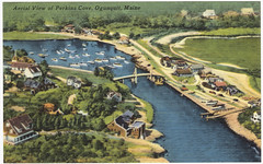 Aerial View of Perkins Cove, Ogunquit, Maine