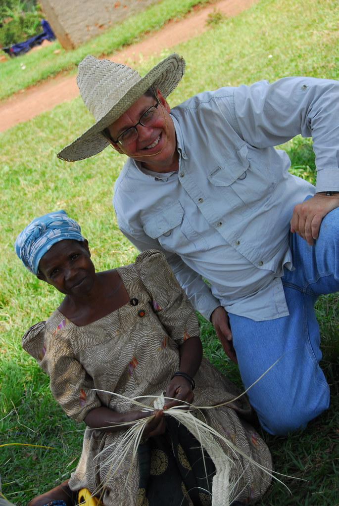 Phil Ware With Ugandan Weaver