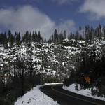 snowy mountain drive