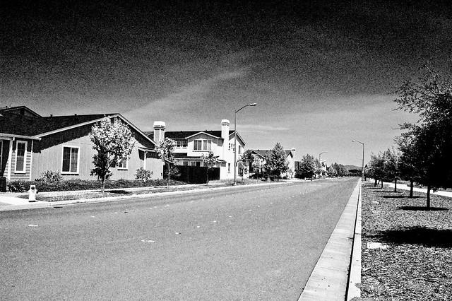 empty neighborhood street infared effect.jpg   Flickr ...