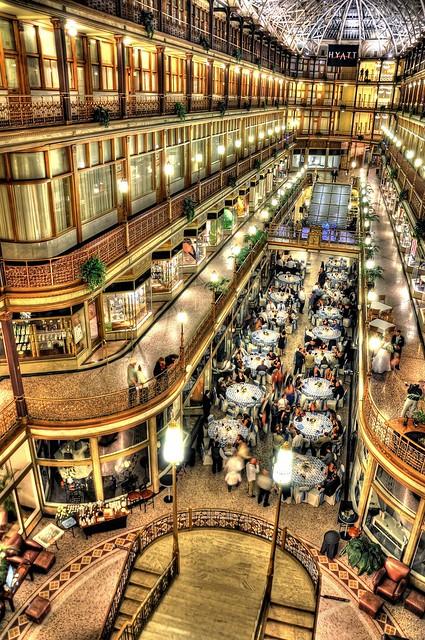 Cleveland Arcade Wedding
