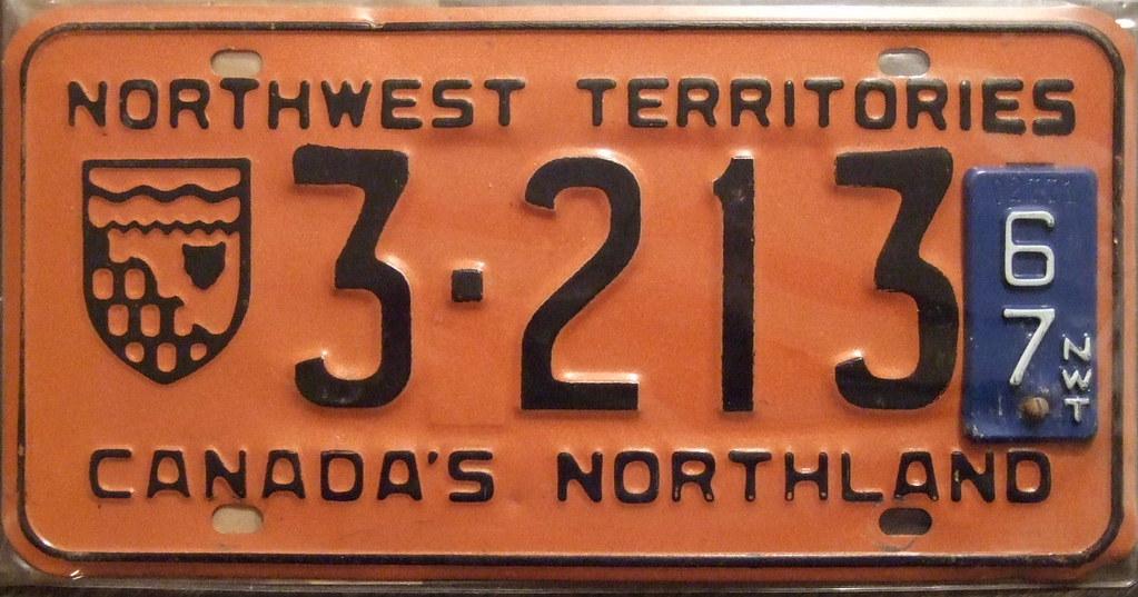 NORTHWEST TERRITORIES 1967 license plate
