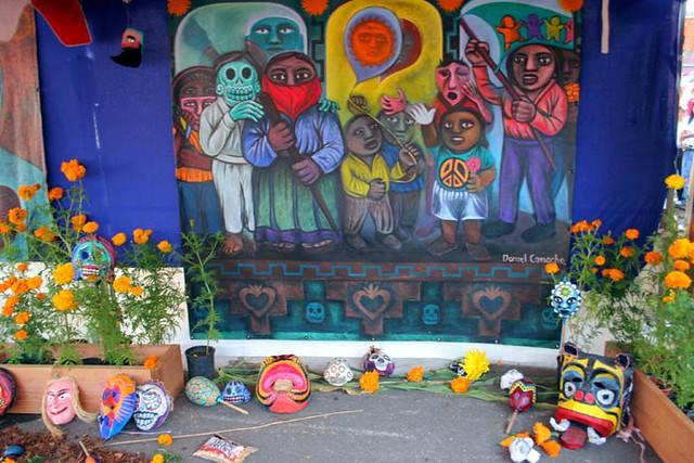 Mural masks d a de los muertos in fruitvale 2007 by for Dia de los muertos mural