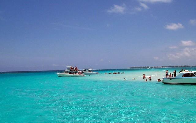sand bar in grand cayman