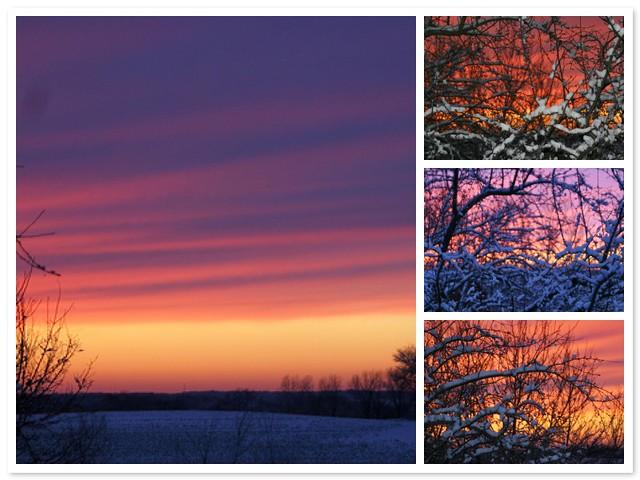 Sunset on December 23rd