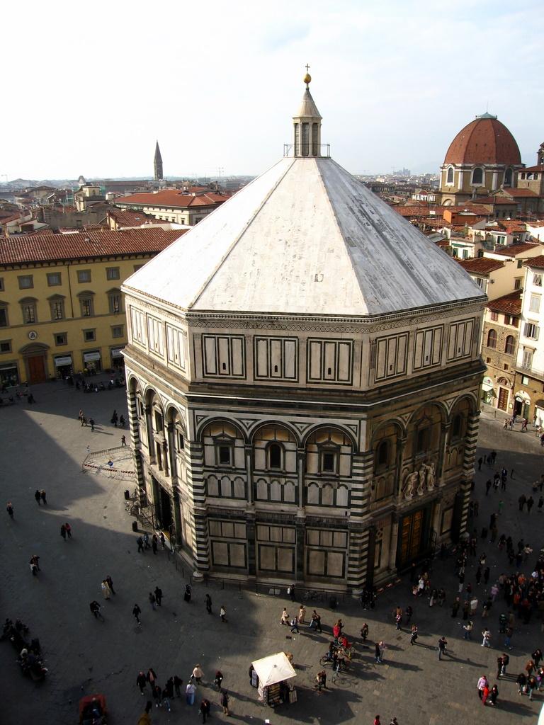 Baptisterio de San Giovanni desde el Campanile