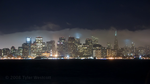 Foggy San Francisco Skyline, Timelapse