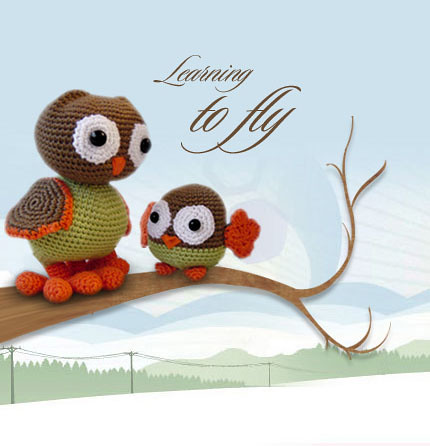 Amigurumi Baby Owl Pattern : Amigurumi Mama and Baby Owl Flickr - Photo Sharing!