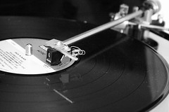 monochrome photography, electronics, monochrome, black-and-white, black, gramophone record,