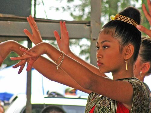 Lao Dancer at Wat Lao Buddhavong Songkran Festival