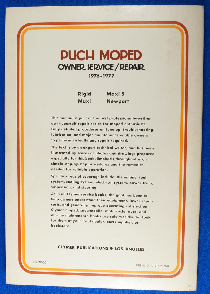 RD15221 Original Vintage Puch Moped Owner Service Repair Manual 1976-1977 DSC08743