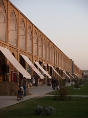 sunset, imam khomeini square, isfahan, iran october 2007