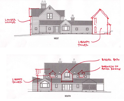 House plan alterations side view flickr photo sharing for Side view house plans