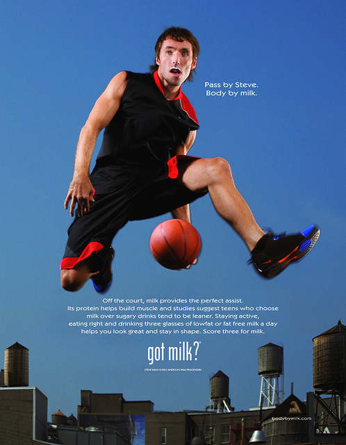 Steve Nash Got Milk? Ad