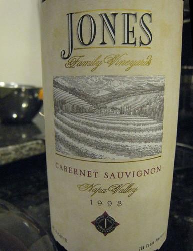jones vineyard, wine label, cabernet sauvig… IMG_1821