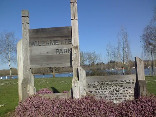 Willamette Park entry sign