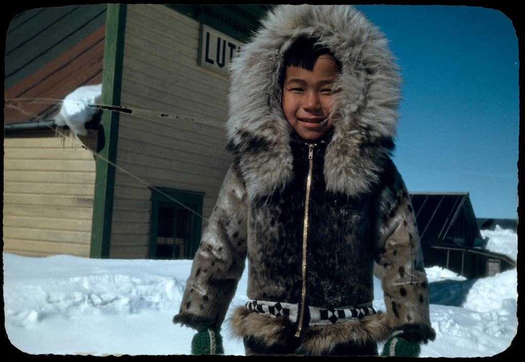 34 Eskimo Boy in Fur Parka, Teller Town, April 23, 1949