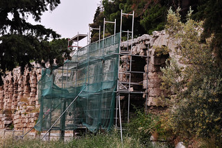 Obraz Stoa of Eumenes. travel history construction ruins athens greece acropolis eurotrip2009
