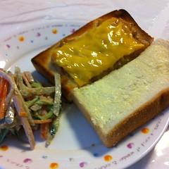 マヨなめたけチーズトースト、ハニーシュガートースト