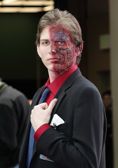 Harvey Dent New Earth: Harvey Dent Makeup Done By Me.