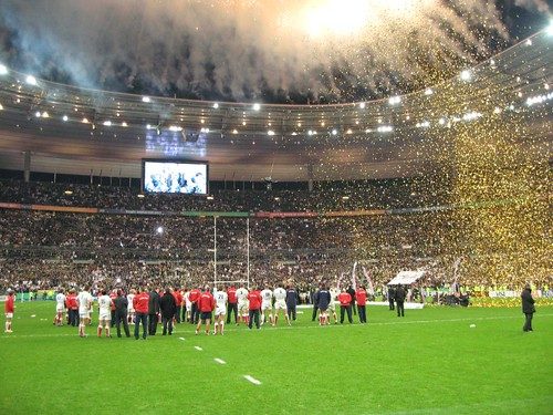 Fireworks at the Stade de France