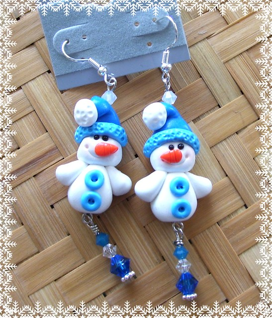 creating a polymer clay snowman , video tutorial