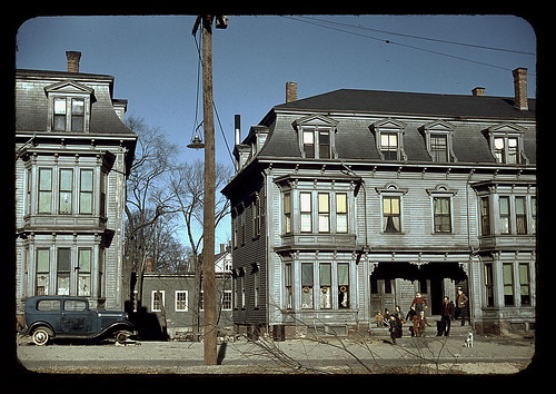 Children in the tenement district, Brockton, Mass.  (LOC)