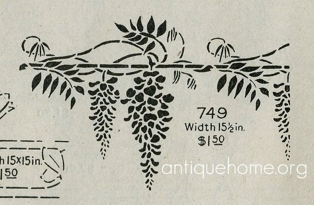 Arts crafts stencil wisteria flickr photo sharing for Arts and crafts stencils craftsman