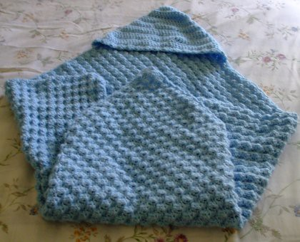 Crochet Basket Weave Afghan Baby Blanket - Pattern & Tutorial