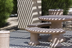 outdoor structure(0.0), wood(0.0), wicker(0.0), iron(0.0), chair(0.0), bench(1.0), outdoor furniture(1.0), furniture(1.0), table(1.0),