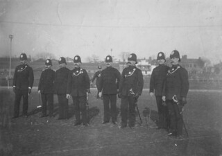 1890's English Army or Police Officers on Parade