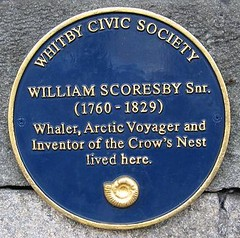Photo of William Scoresby Snr blue plaque