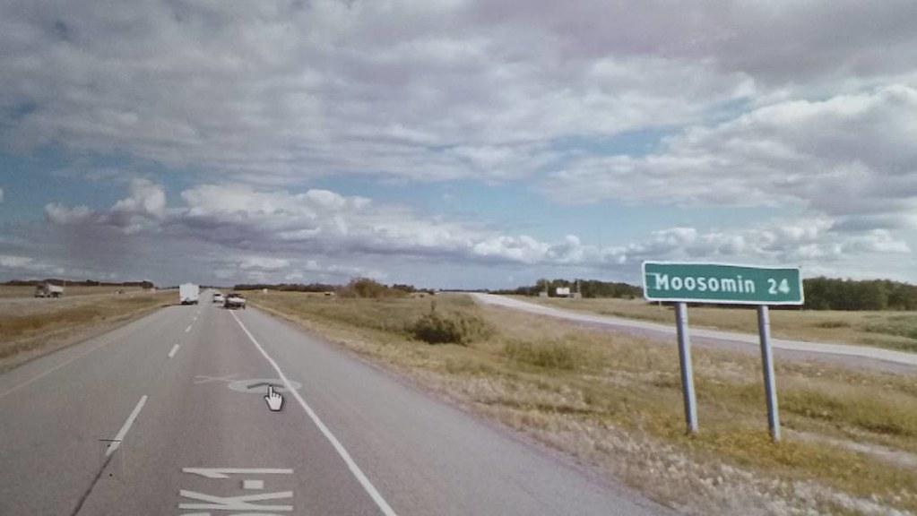 Moosomin, SK 24 km. #ridingthroughwalls #xcanadabikeride through #googlestreetview #saskatchewan