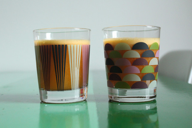 orange carrot kiwi and ginger juice