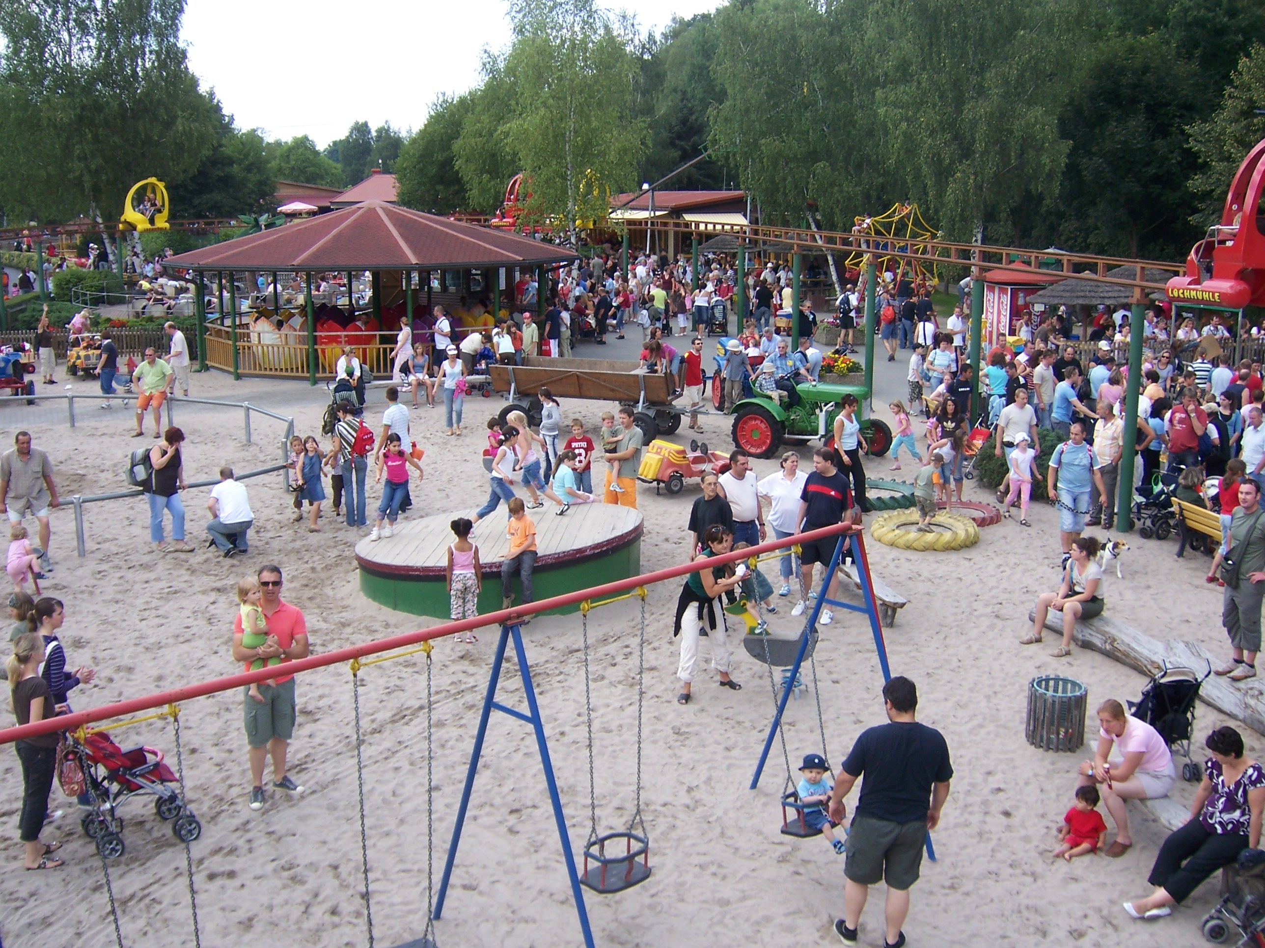 Family Fun in Themepark Lochmuehle (Usingen, Germany)